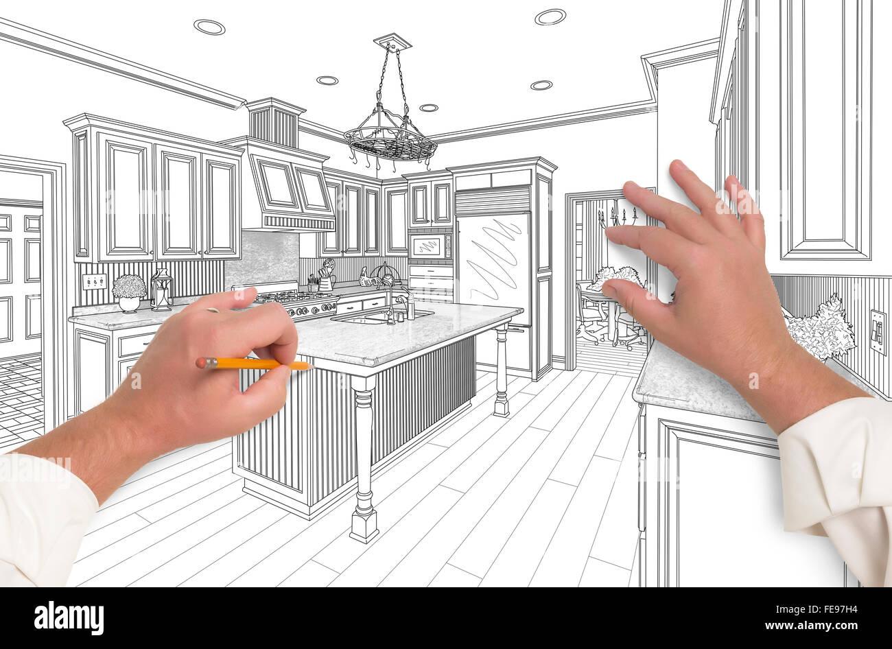 Pencil Art Building Sketch Stockfotos & Pencil Art Building Sketch ...