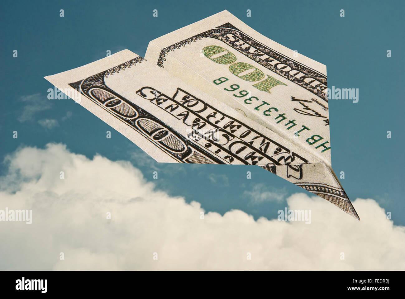 Luft-Reisekosten Stockbild