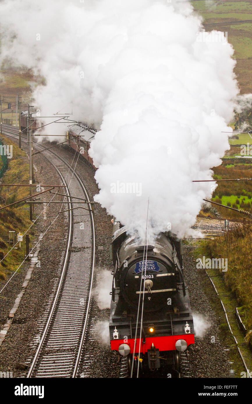 Vintage Steam Locomotive 44871 Lms Stockfotos & Vintage Steam ...
