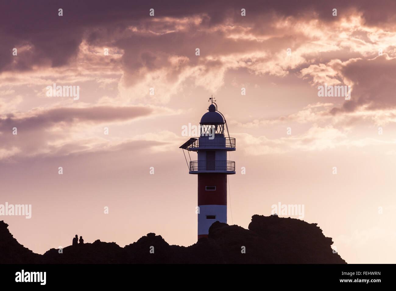 Punta de Teno Leuchtturm auf Teneriffa Stockbild