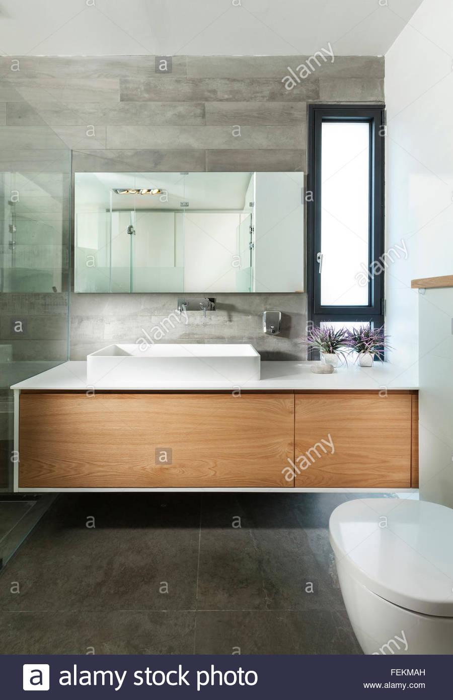 Moderne Villa In Gan Ner Israel Ein Bad Mit Schwarzen Fliesen - Fliesenspiegel große fliesen