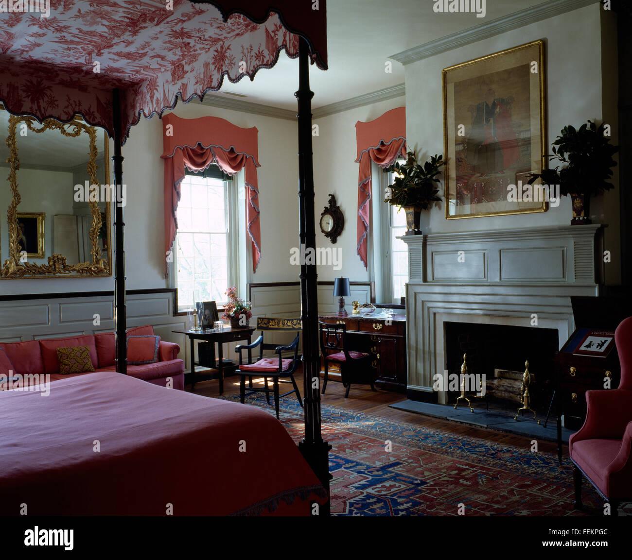 Jahrhundert Historischen Föderation Ära Haus Traditionelle Möbel Des  Zeitraums In Einem Schlafzimmer Vier