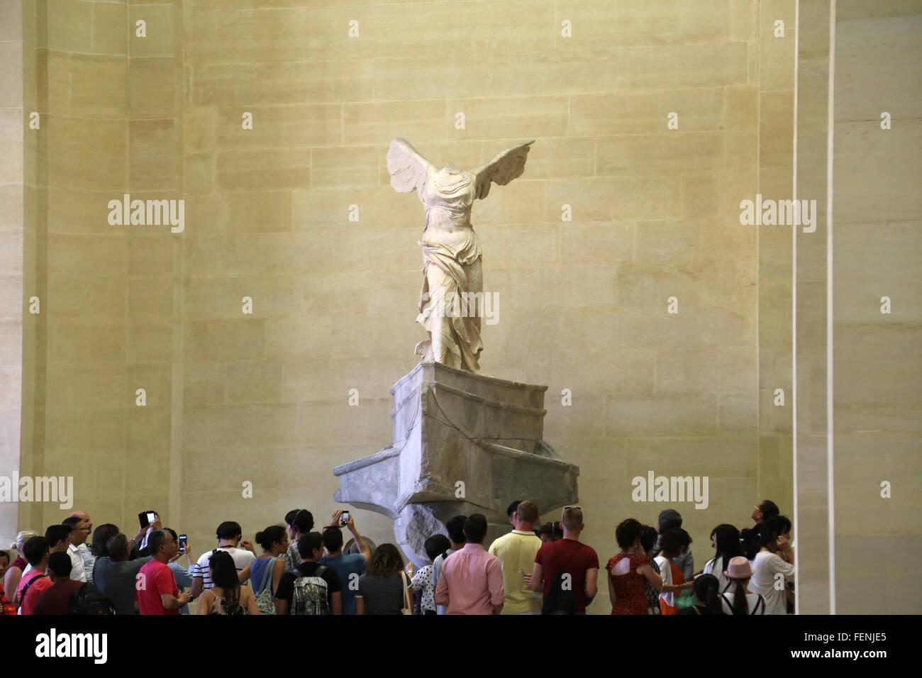 Frankreich. Paris. Louvre-Museum.  Winged Sieg von Samothrace. Altgriechisch. Stockbild