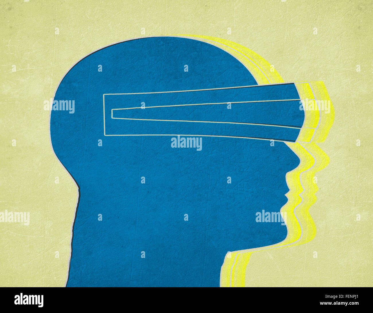 Virtual-Reality-Konzept digitale illustration Stockfoto