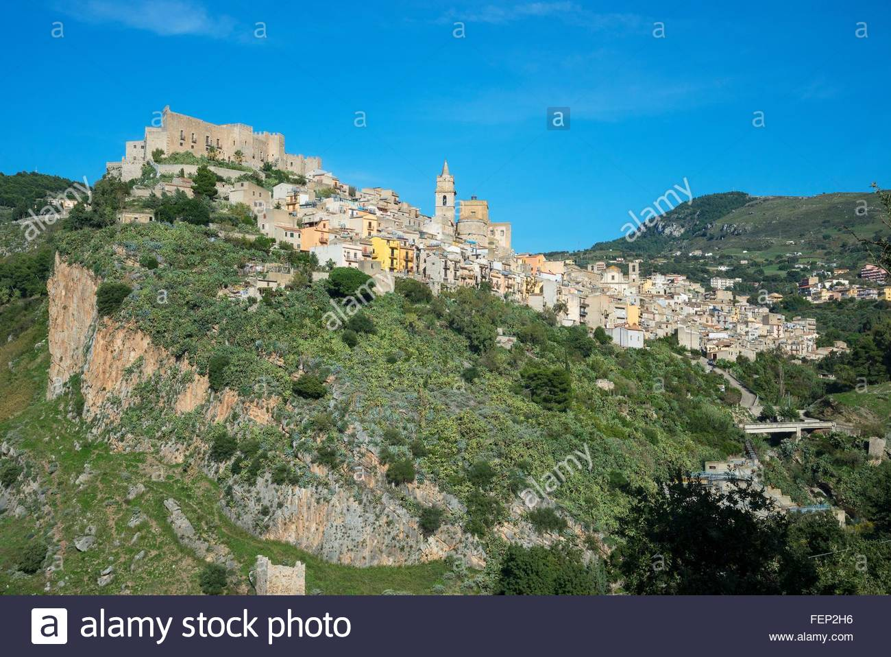 Caccamo Burg, Caccamo, Sizilien, Italien Stockbild