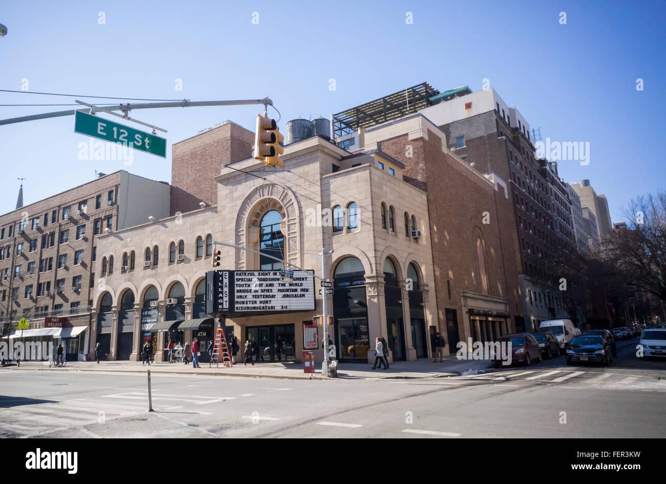 Das Dorf Osten Kino, ein Multiplex-Kino im East Village in New York am Dienstag, 2. Februar 2016. Ursprünglich Stockbild