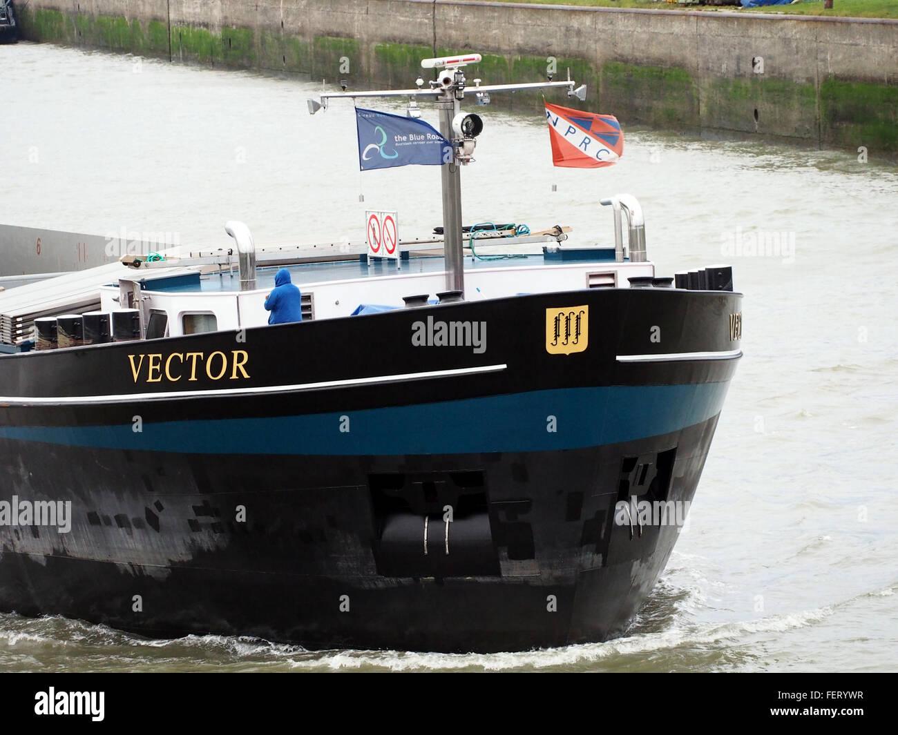 Vektor (Schiff, 2008), ENI 02331015 Hafen von Antwerpen pic6 Stockbild