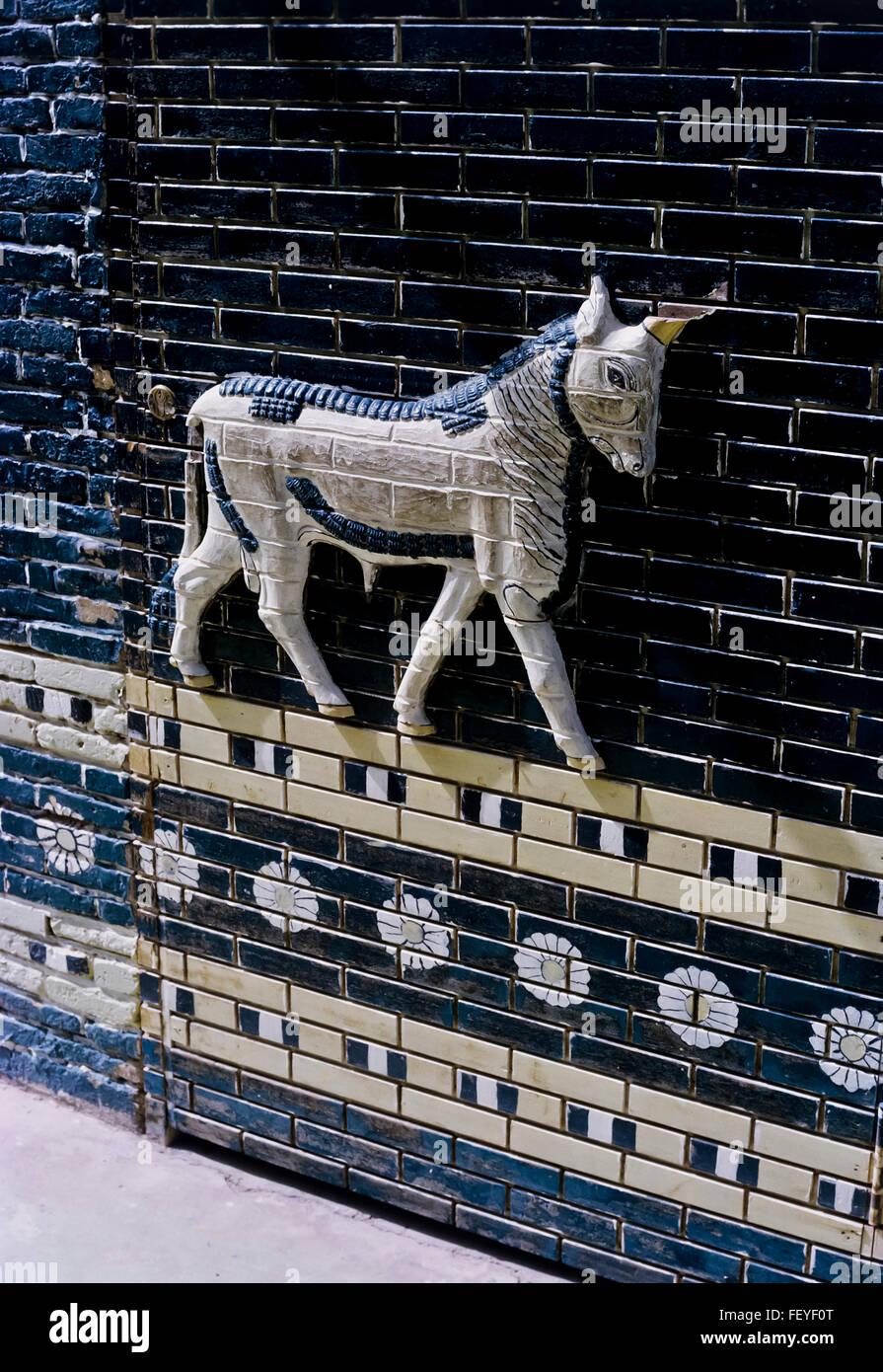 AA 6828. Archivierung der 1960er Jahre Babylon Ruinen, Irak Stockbild
