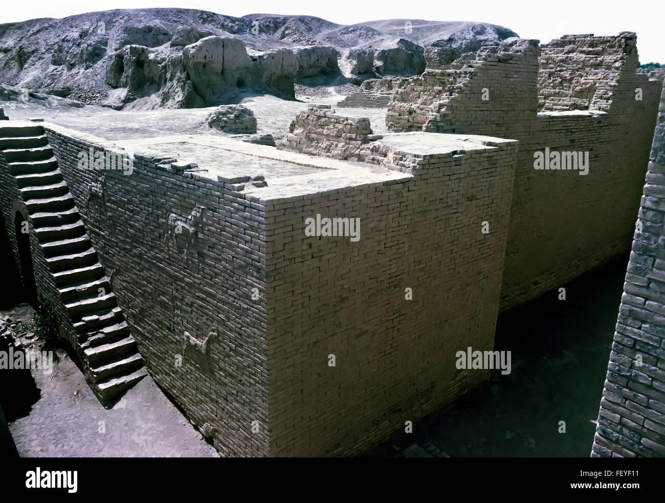 AA 6829. Archivierung der 1960er Jahre Babylon Ruinen, Irak Stockbild