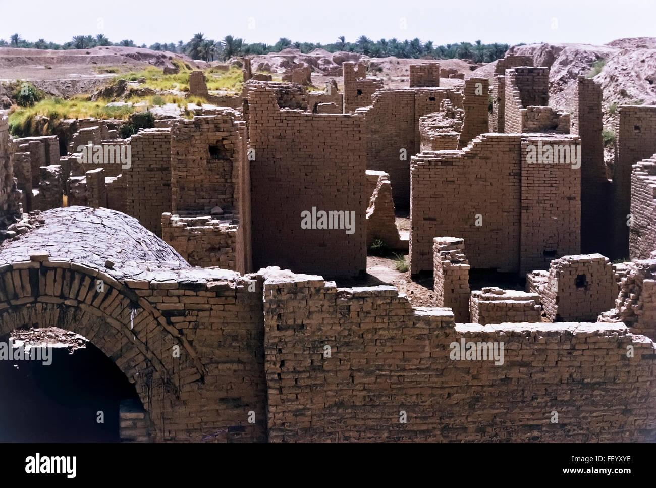 AA 6826. Archivierung der 1960er Jahre Babylon Ruinen, Irak Stockbild