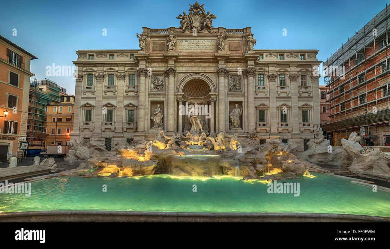 Rom, Italien: Den Trevi-Brunnen Stockbild