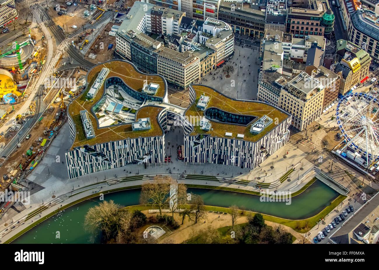 Luftaufnahme Ku00f6-Bogen Mall Du00fcsseldorf Porsche Zentrum Apple Store Breuninger Neue K-Bogen ...