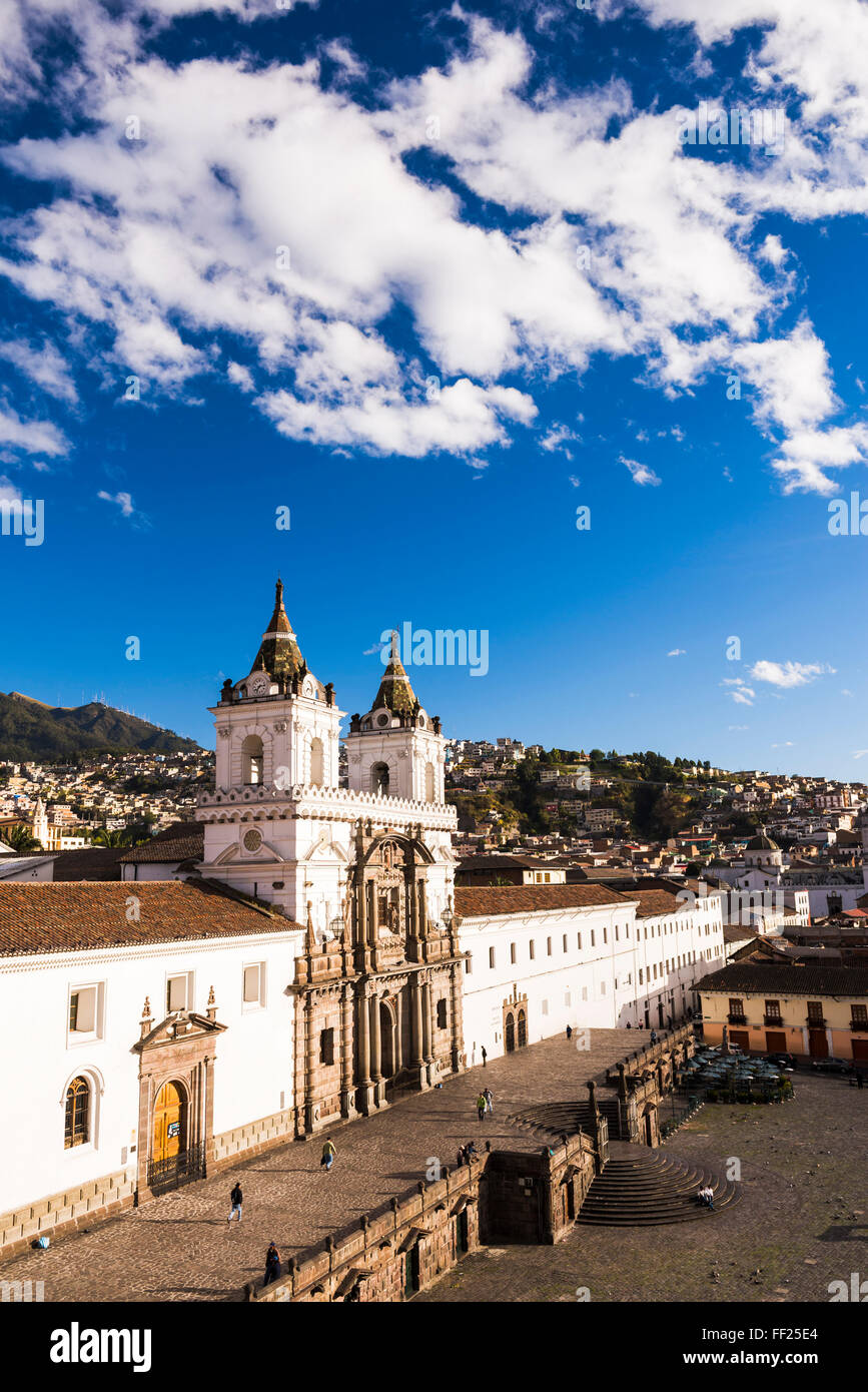Stadt von Quito, der Altstadt von Quito ORMd Stadt, Weltkulturerbe der UNESCO WorRMd, Provinz Pichincha, Ecuador, Stockbild