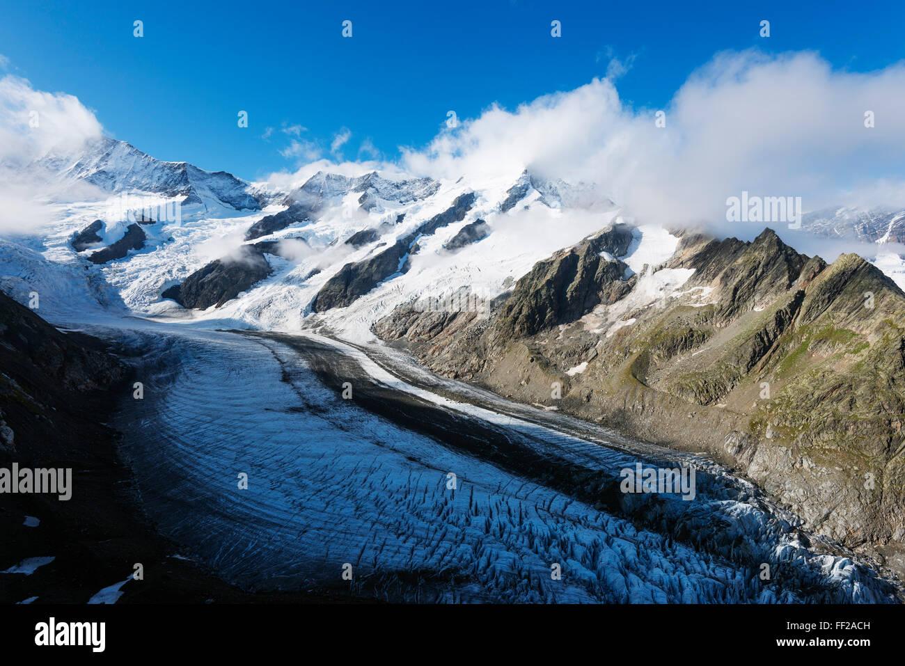 Gletscher Gletscher oberhalb Grindelwald, Interlaken, Berner Oberland, Schweiz, Europa Stockbild