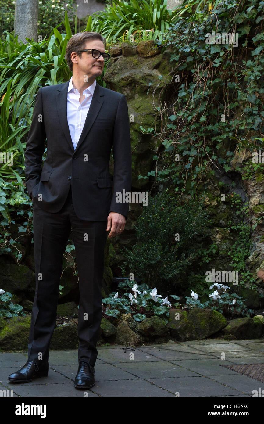 Colin Firth Roma 02.02.2015 Hotel De Russie Kingsman Fototermin Foto Andrea Staccioli / Insidefoto Stockbild