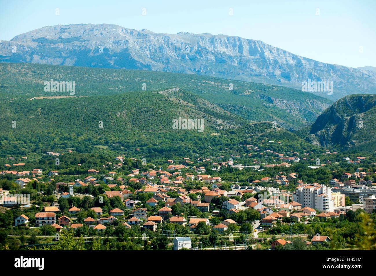 Fernsehreihe, Dalmatien, Blick Auf Die Stadt Knin Stockbild