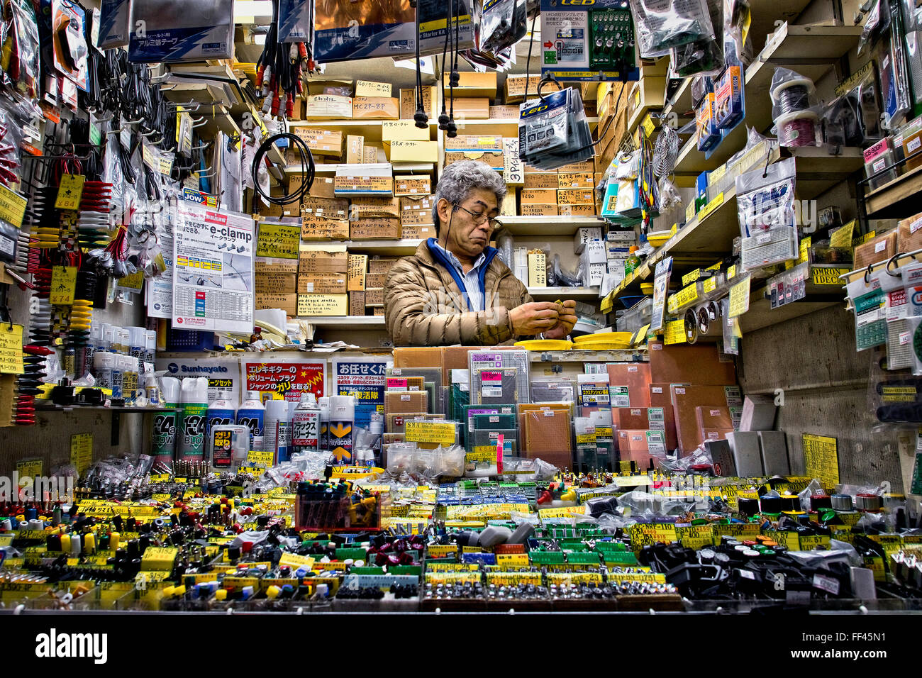 Japan, Honshu-Insel, Kanto, Tokio, Elektronik-Geschäft. Stockbild