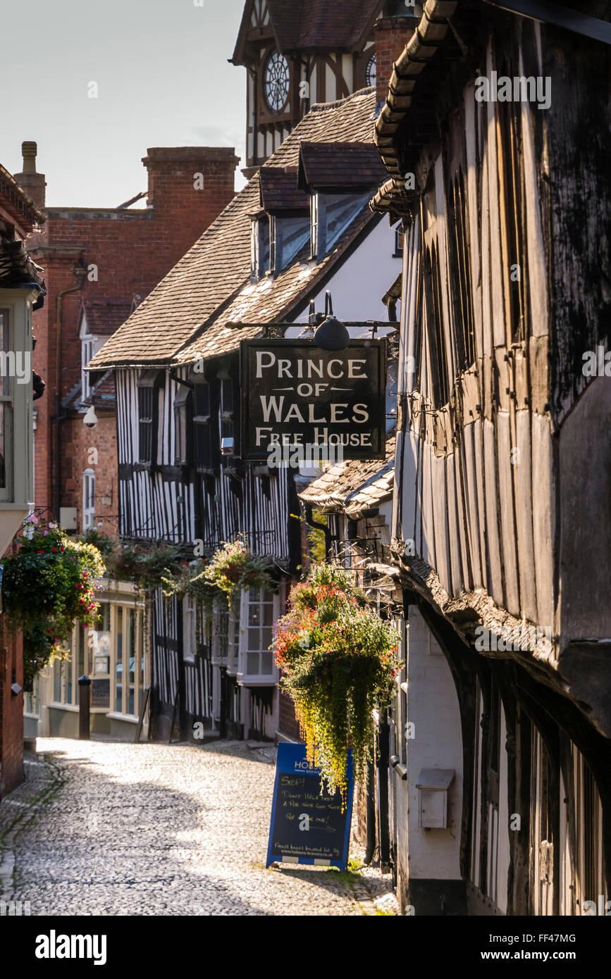Prince Of Wales (frei Haus) Ledbury Herefordshire England Stockbild