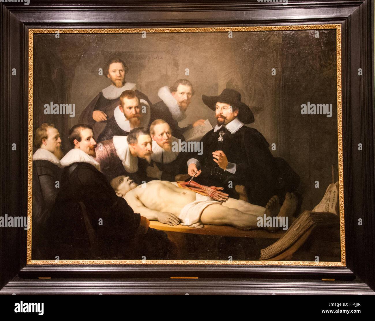 Anatomie Unterricht Dr. Tulp rembrandt Stockfoto, Bild: 95374127 - Alamy