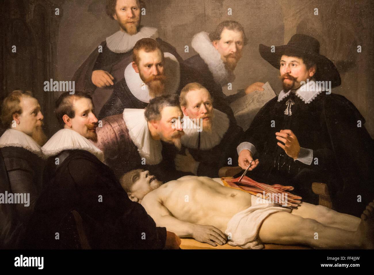 Anatomie Unterricht Dr. Tulp rembrandt Stockfoto, Bild: 95374129 - Alamy