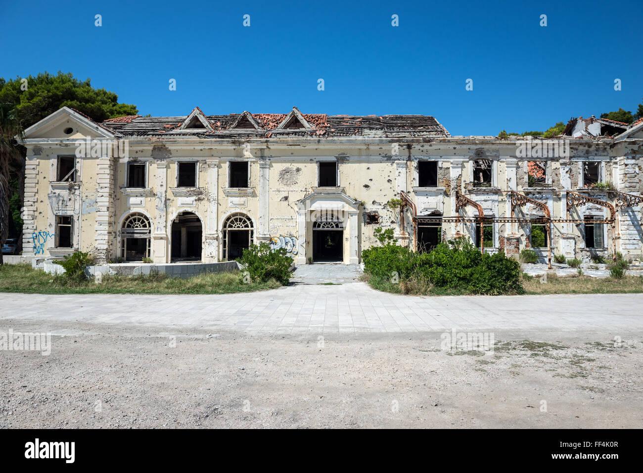 Verlassene Grand Hotel Kupari Dorf Touristischen Komplex Zerstort