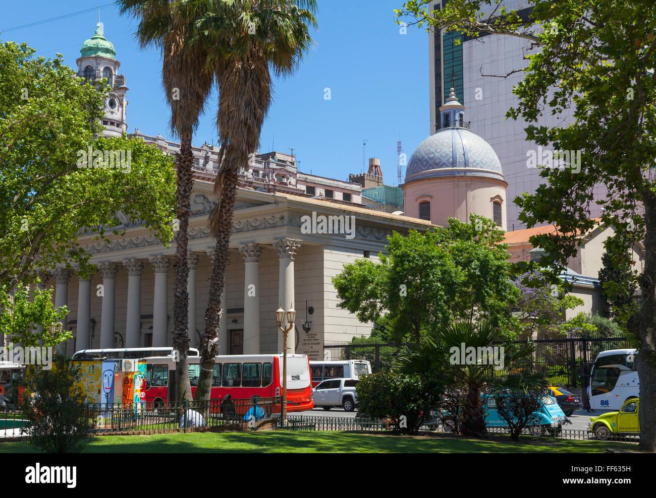 Metropolitan-Kathedrale, Plaza de Mayo Stockbild