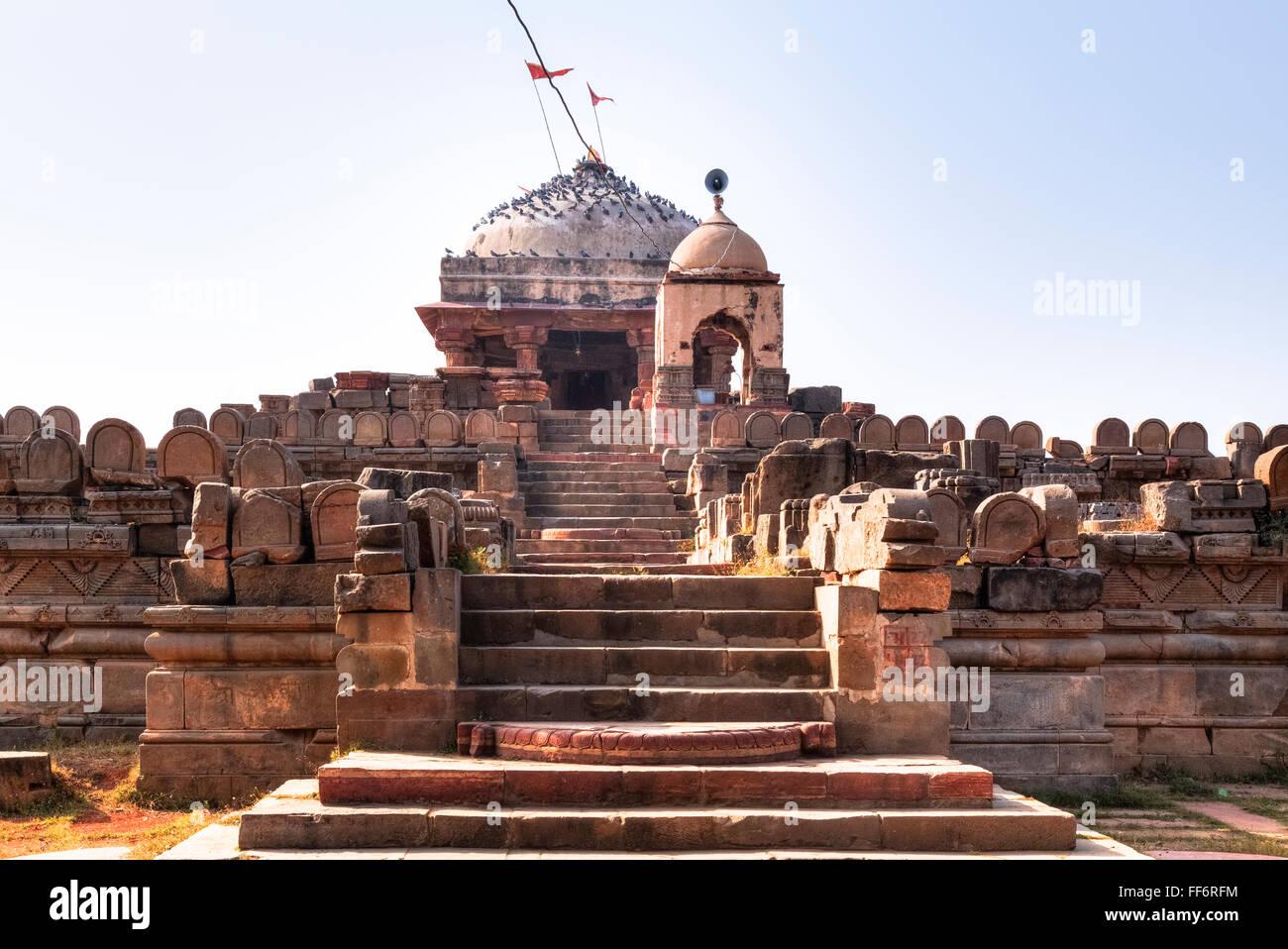 Harshat Mata Tempel. Abhaneri, Dausa, Rajasthan, Indien Stockbild