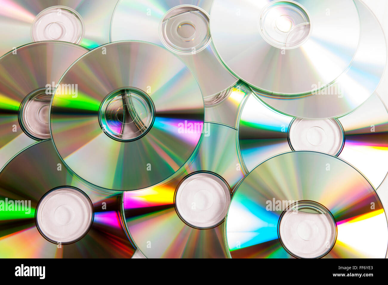 Cd CDs dvd dvds digitale Daten Speicher Piraterie Disk full-Frame ...