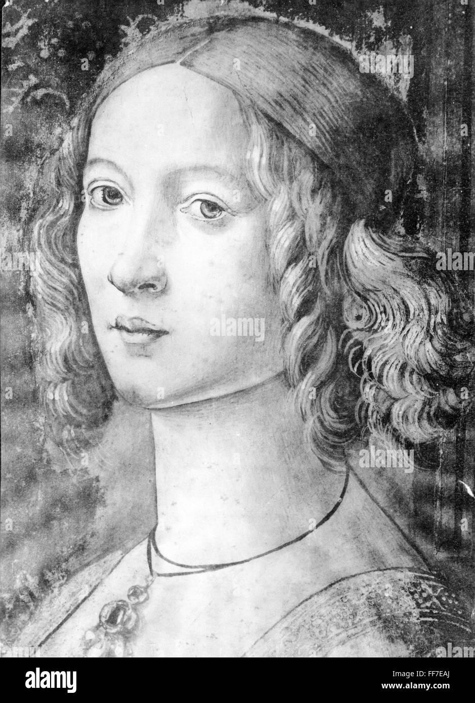 Woman Painting Medieval Stockfotos Woman Painting Medieval Bilder