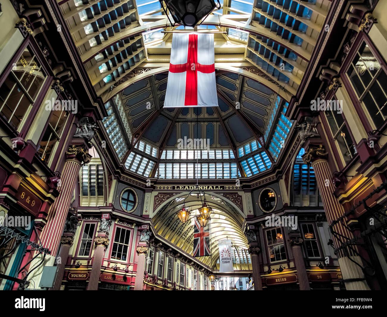 Leadenhall Market Stockbild