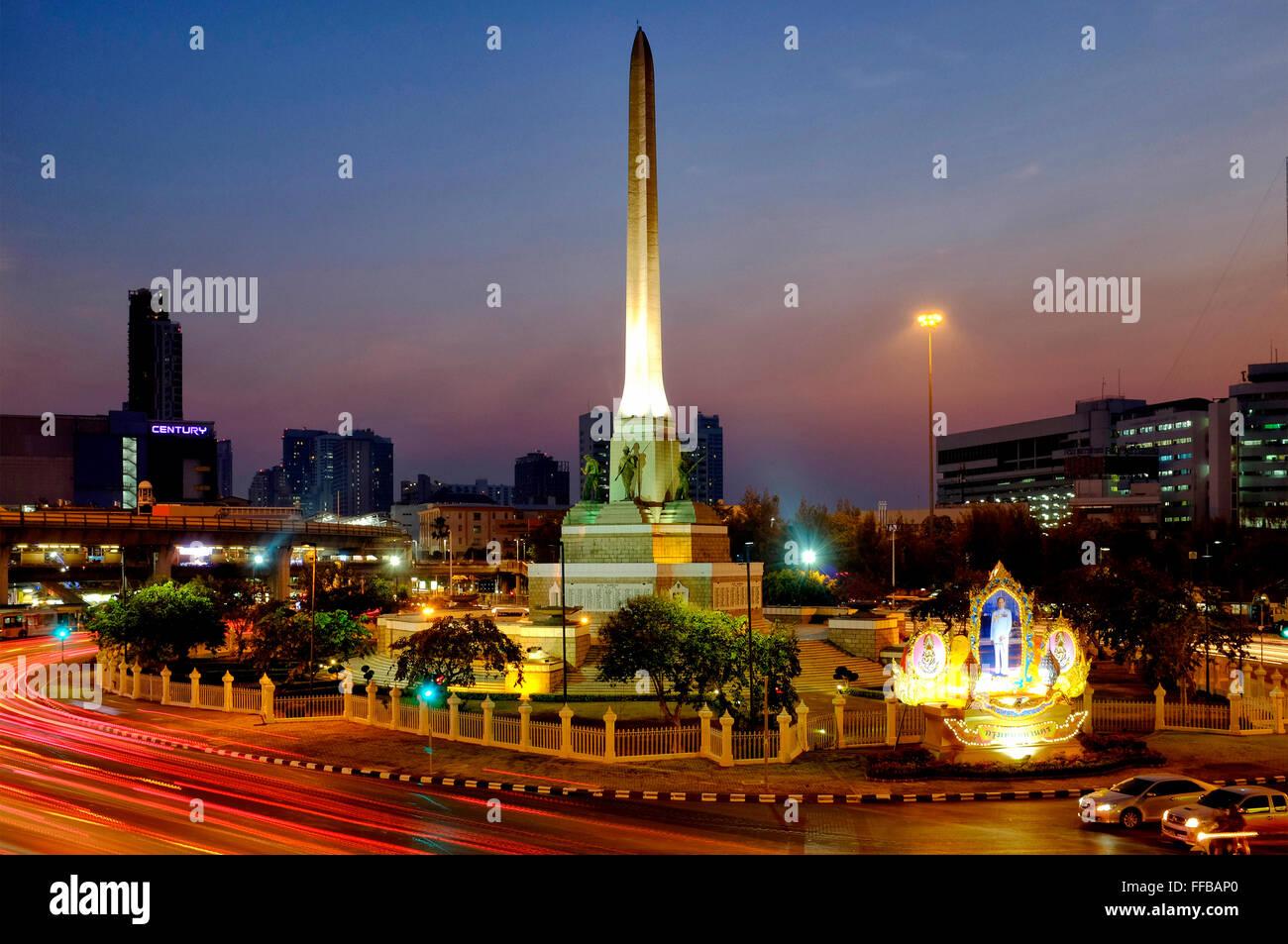 Siegesdenkmal, Bangkok, Thailand Stockbild