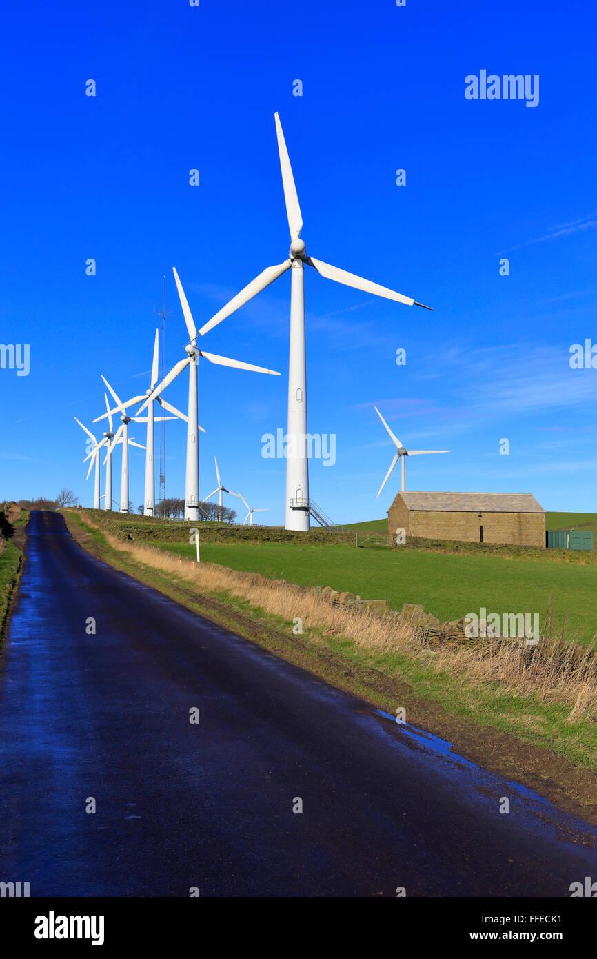 Royd Moor Windpark, Penistone in der Nähe von Barnsley, South Yorkshire, England, UK. Stockbild