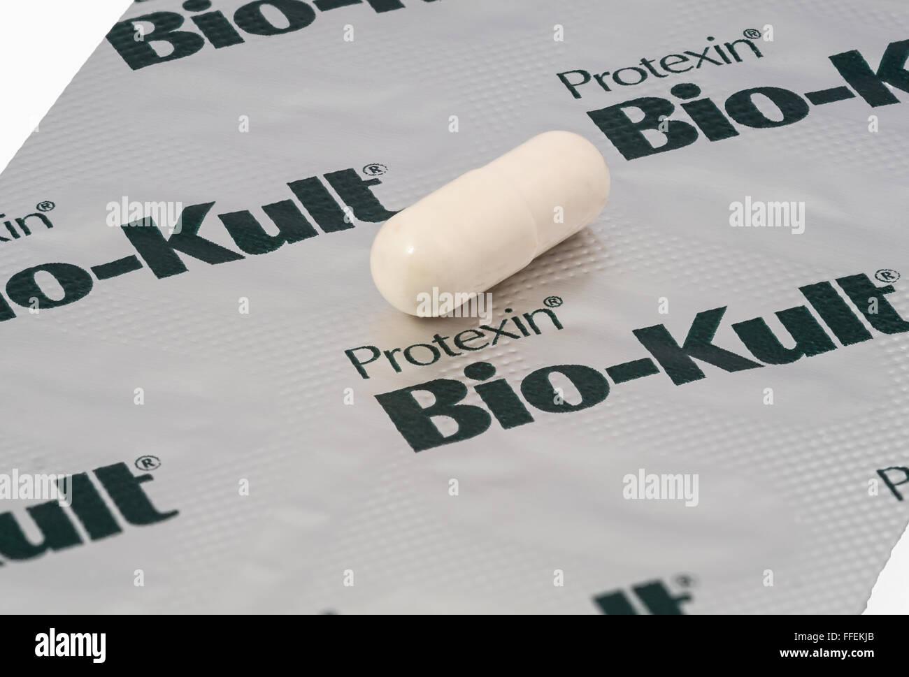 Bio-Kult probiotische Kapseln Stockbild