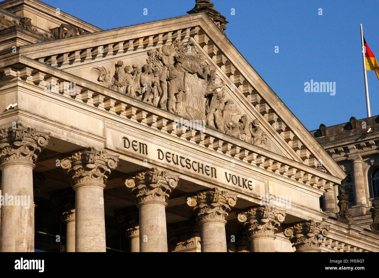 Reichstag, Berlin-Tiergarten. Stockbild