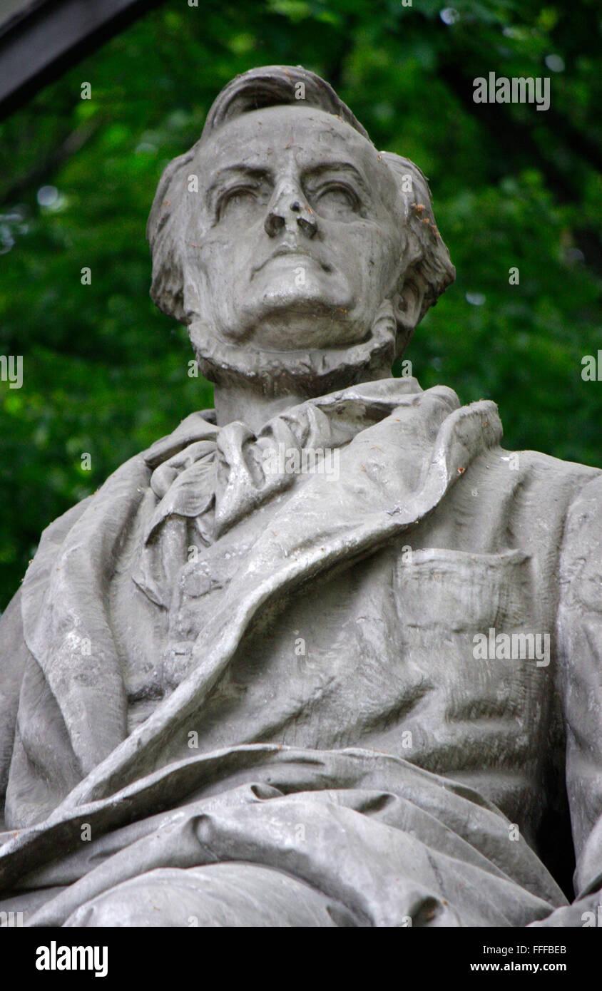 Richard Wagner-Denkmal, Berlin-Tiergarten. Stockbild