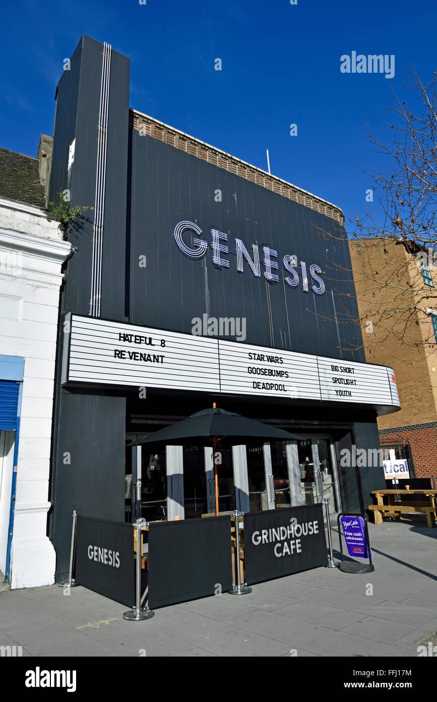 Genesis-Kino, Mile End Road gebaut 1939 London Borough of Tower Hamlets England Großbritannien UK Stockbild