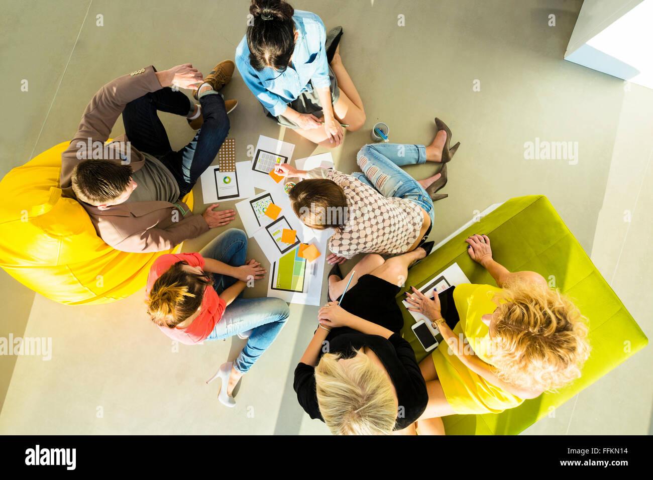 Architekten in Business-Meeting-Team Stockbild