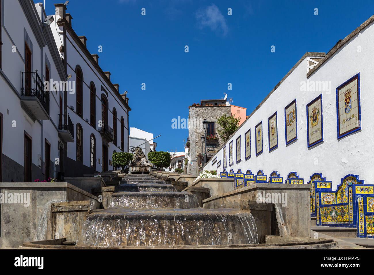 Firgas, Gran Canaria Stockbild