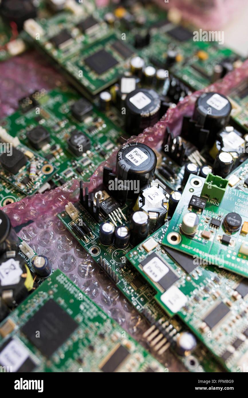 elektronische Leiterplatten Stockbild