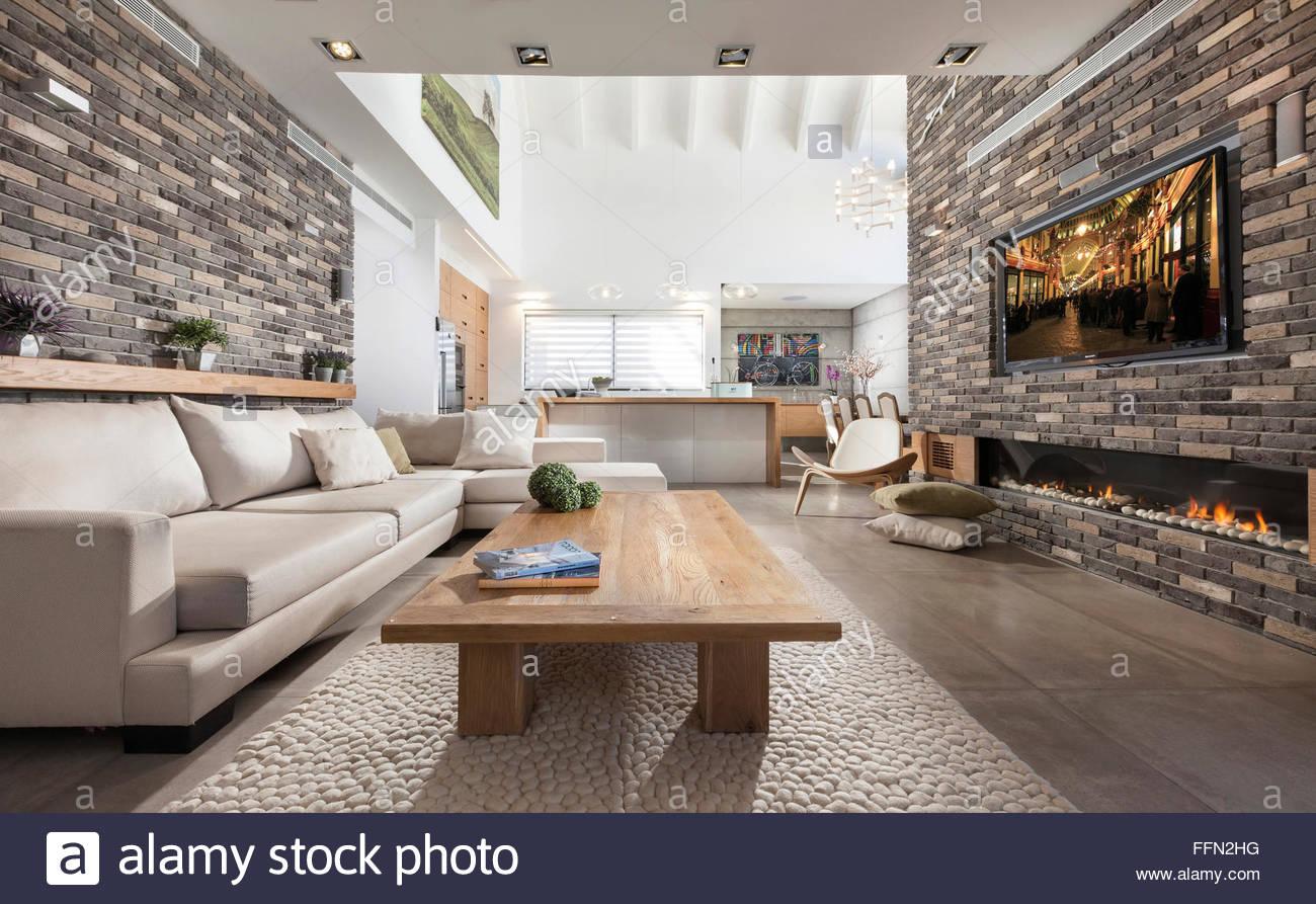 Exquisit Moderne Sitzecke Dekoration Von Villa In Gan Ner, Israel. Interior Design.