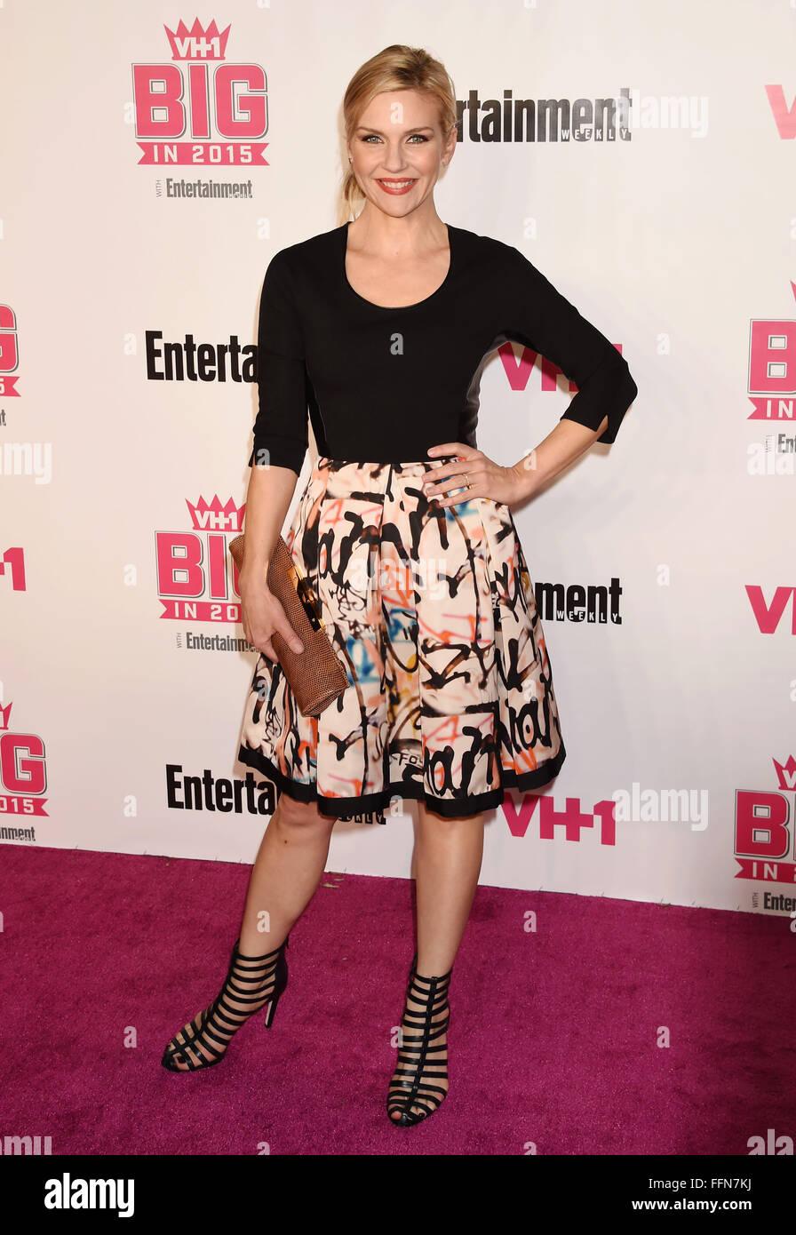 Schauspielerin Rhea Seehorn besucht VH1 Big In 2015 mit Entertainment Weekly Awards bei Pacific Design Center am Stockbild