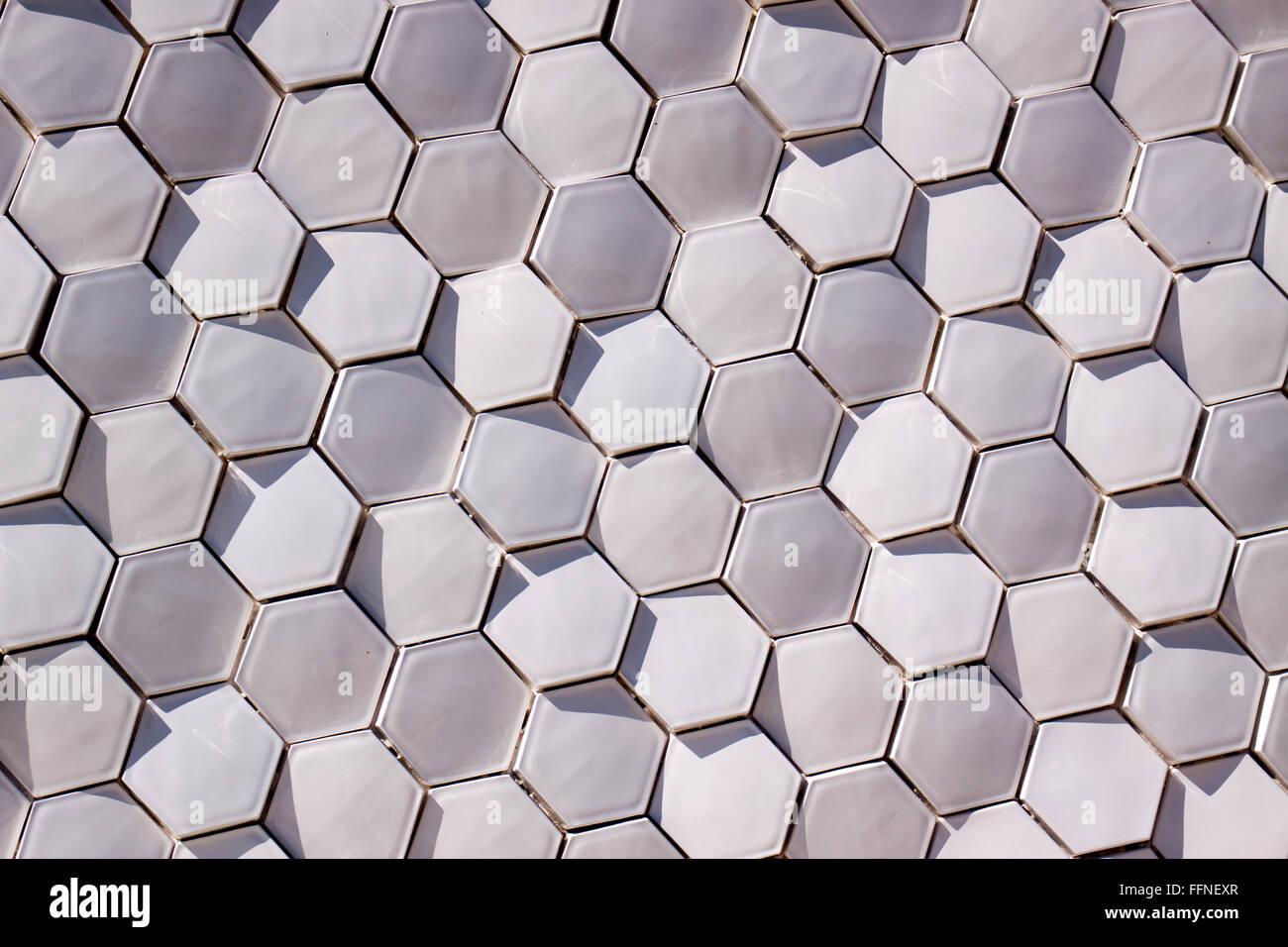 Hexagon wallpaper stockfotos hexagon wallpaper bilder - Fliesen sechseck ...