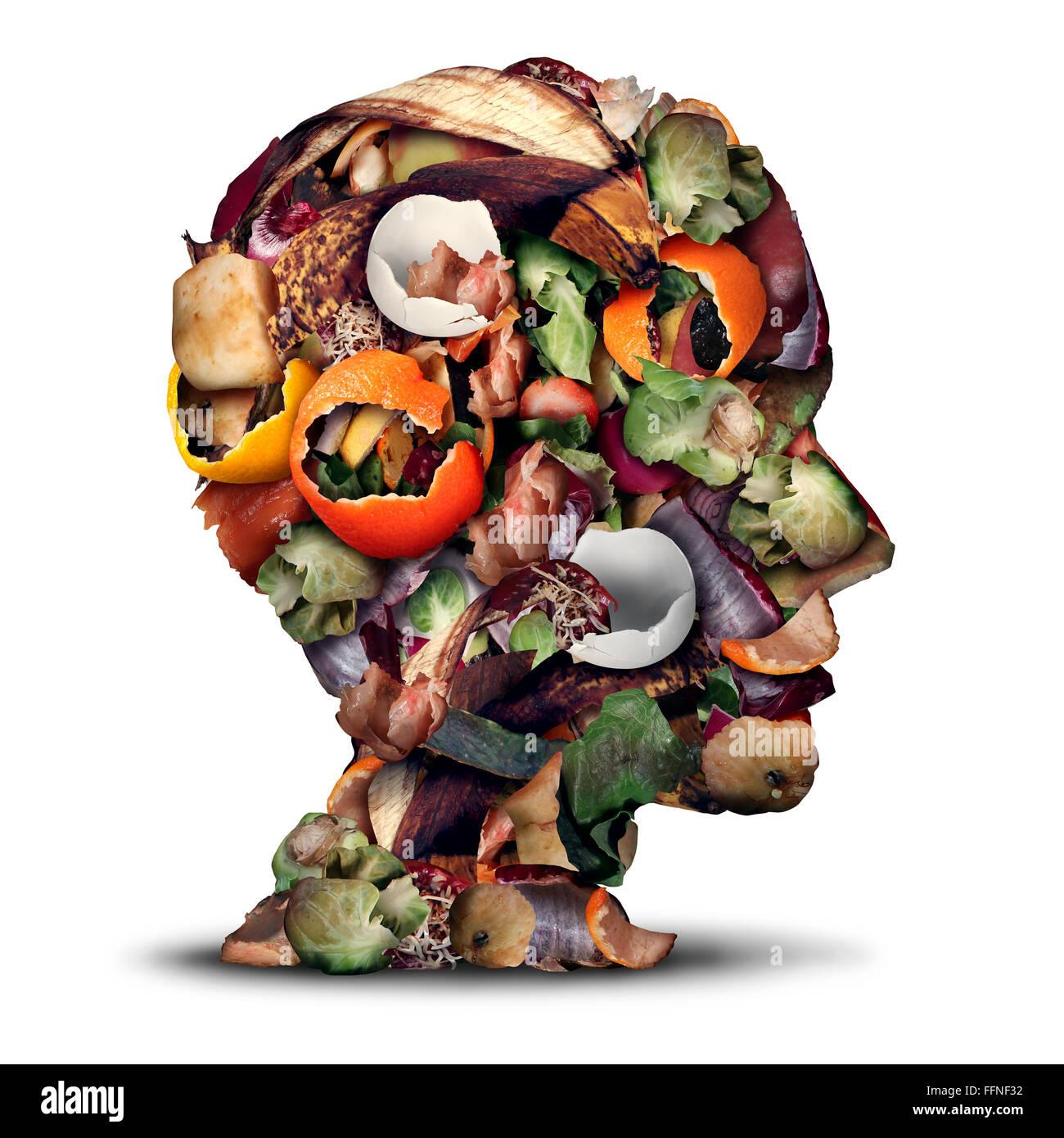Kompost, denken und Kompostierung Konzept als ein Haufen von Fäulnis ...