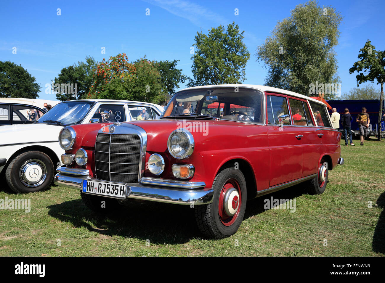 Mercedes, Oldtimer Treffen, Bleckede / Elbe, Niedersachsen, Deutschland, Europa Stockbild