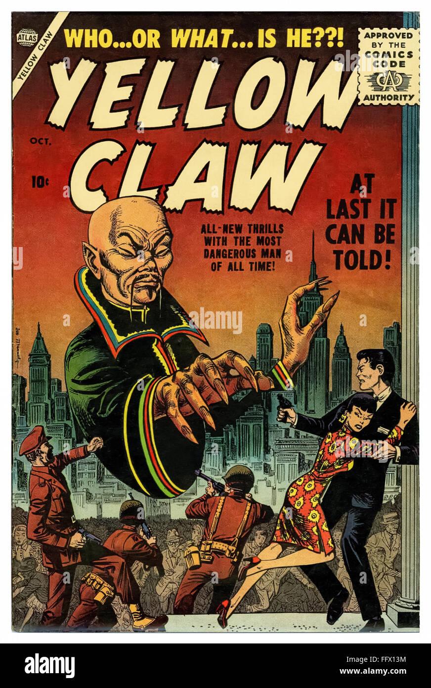 Gelbe Kralle-Comic-Heft Oktober 1956 Stockbild