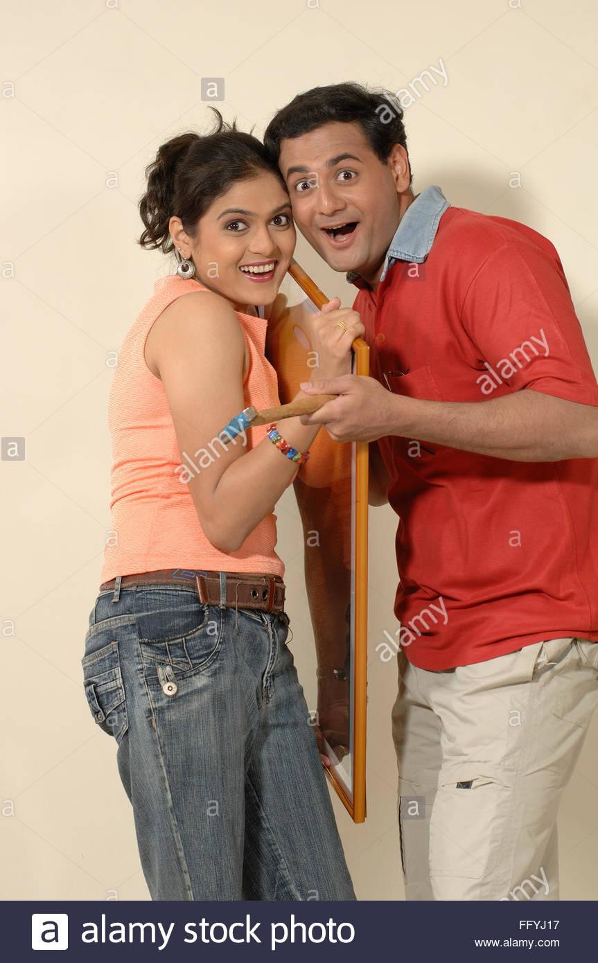 Indian Woman Holding Hammer Stockfotos & Indian Woman Holding Hammer ...
