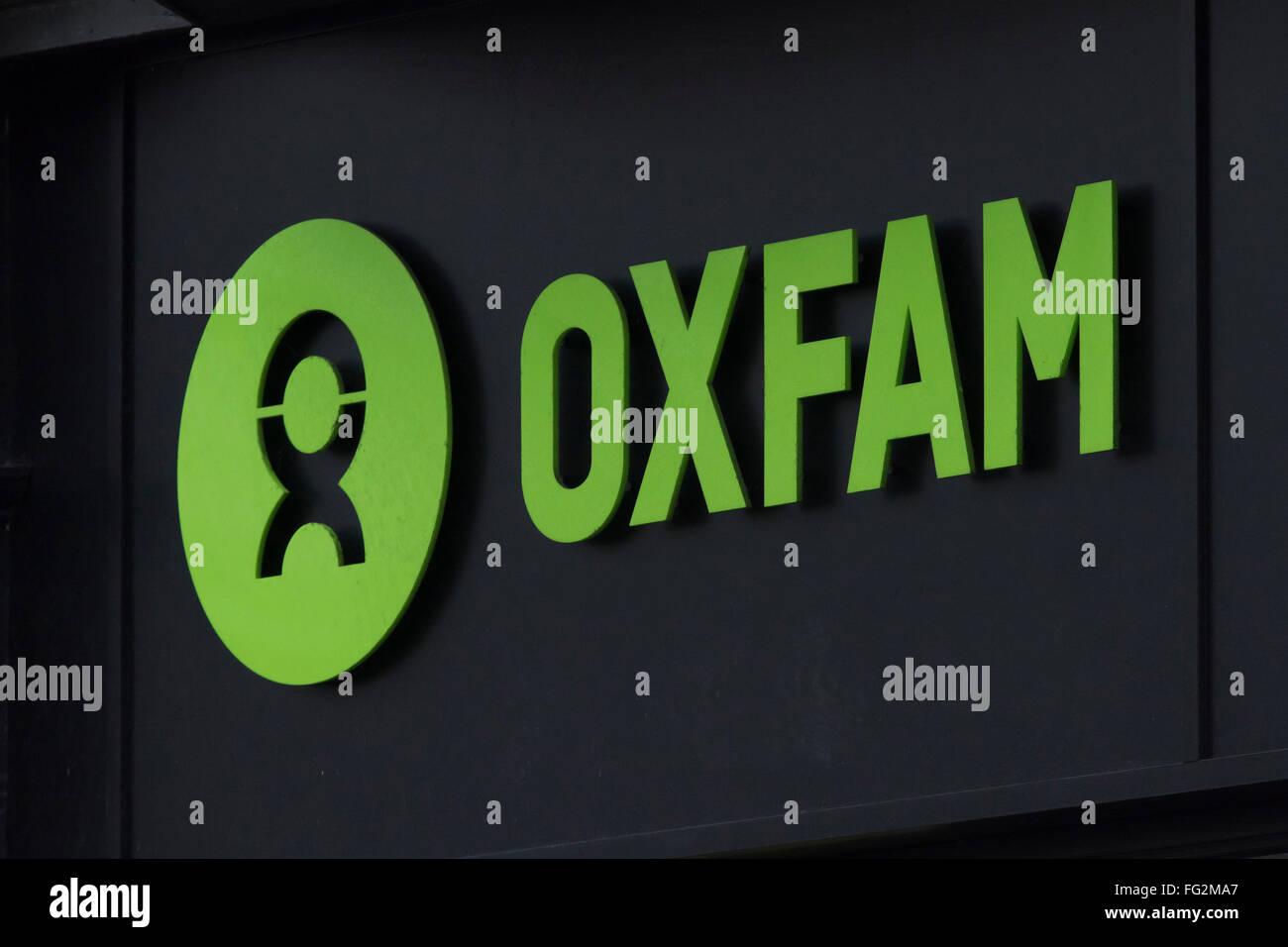 Oxfam-Charity-Zeichen-logo Stockbild