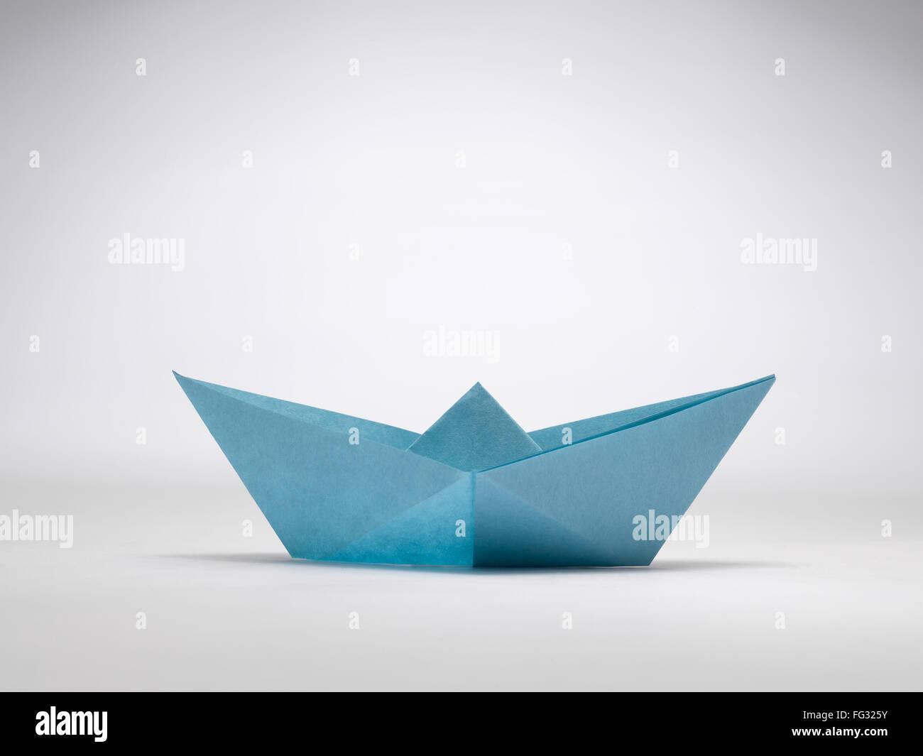 Origami Segelboot Indien Stockbild