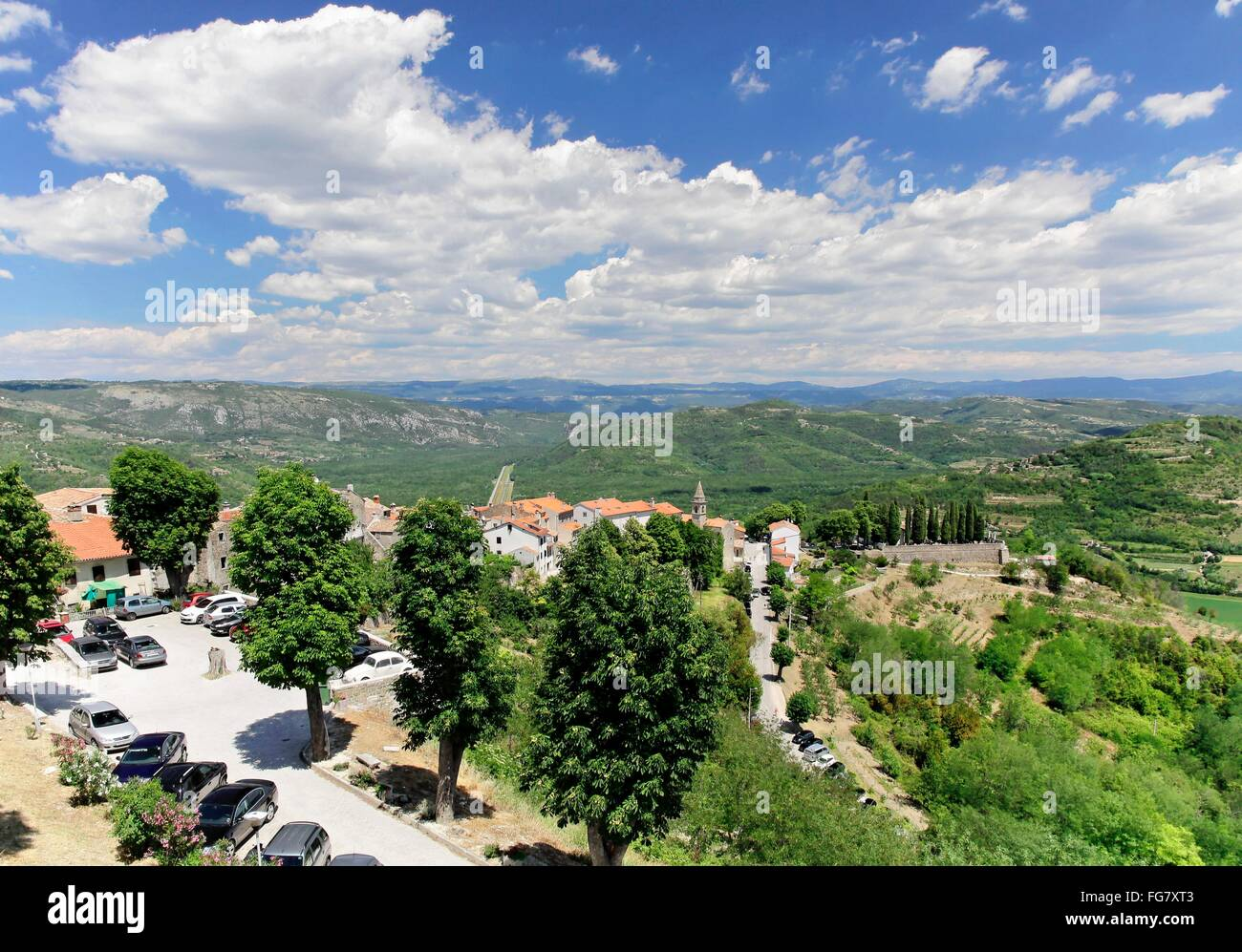 Geographie/Reisen, Kroatien, Istrien, Motovun, Additional-Rights - Clearance-Info - Not-Available Stockbild