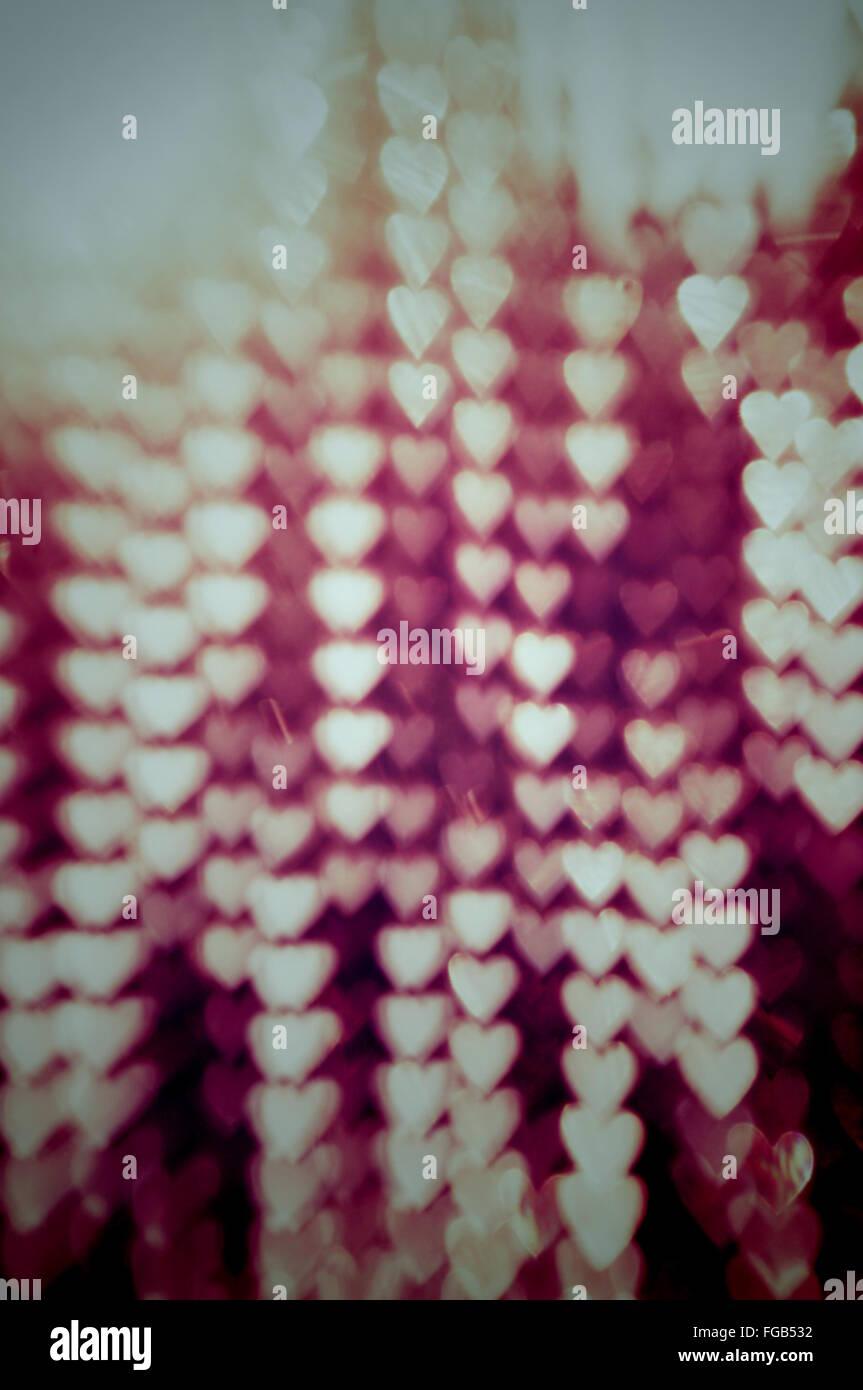 Full-Frame-Schuss der beleuchtete Herzen Stockbild
